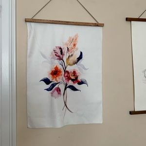 Watercolor Floral Wall Hanging